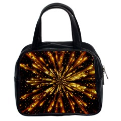 Christmas Star Wallpaper Explosion Classic Handbag (two Sides)
