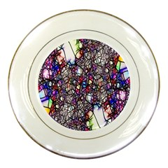 Web Network Abstract Connection Porcelain Plates by Vaneshart