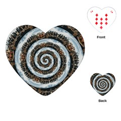 Spiral City Urbanization Cityscape Playing Cards Single Design (heart)