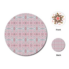 Paper Texture Floral Flowers Playing Cards Single Design (round)
