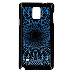 Abstract Rosette Web Network Samsung Galaxy Note 4 Case (black) by Vaneshart