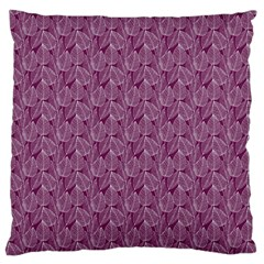 Leaf Pattern Lace Leaf Leaves Standard Flano Cushion Case (one Side)