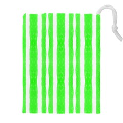 Tarija 016 White Neon Green Drawstring Pouch (3xl)