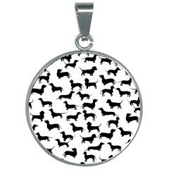 Dachshunds! 30mm Round Necklace