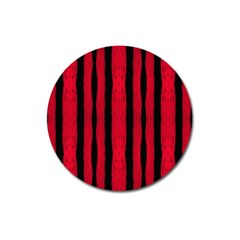 Tarija 016 Black Red Magnet 3  (round)