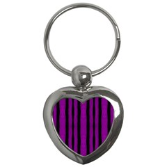 Tarija 016 Purple Black Key Chain (heart)