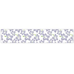 Cute Flowers   Silver Grey Large Flano Scarf