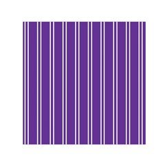 Nice Stripes   Imperial Purple Small Satin Scarf (square)
