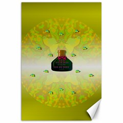 Birds And Sunshine With A Big Bottle Peace And Love Canvas 20  X 30  by pepitasart
