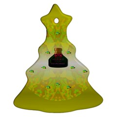 Birds And Sunshine With A Big Bottle Peace And Love Ornament (christmas Tree)