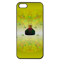 Birds And Sunshine With A Big Bottle Peace And Love Iphone 5 Seamless Case (black) by pepitasart