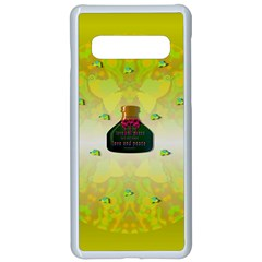 Birds And Sunshine With A Big Bottle Peace And Love Samsung Galaxy S10 Seamless Case(white) by pepitasart