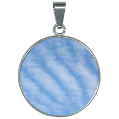 Wavy Cloudspa110232 30mm Round Necklace by GiftsbyNature