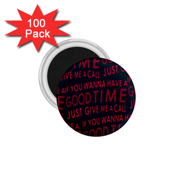 Motivational Phrase Motif Typographic Collage Pattern 1.75  Magnets (100 pack)