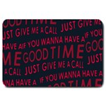 Motivational Phrase Motif Typographic Collage Pattern Large Doormat  30 x20  Door Mat