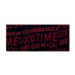 Motivational Phrase Motif Typographic Collage Pattern Hand Towel