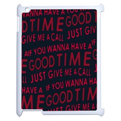 Motivational Phrase Motif Typographic Collage Pattern Apple Ipad 2 Case (white)