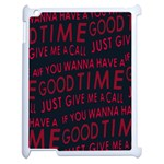 Motivational Phrase Motif Typographic Collage Pattern Apple iPad 2 Case (White) Front