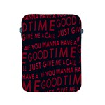 Motivational Phrase Motif Typographic Collage Pattern Apple iPad 2/3/4 Protective Soft Cases Front