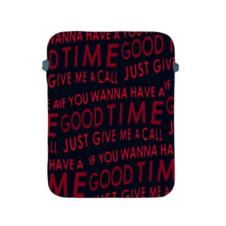 Motivational Phrase Motif Typographic Collage Pattern Apple iPad 2/3/4 Protective Soft Cases