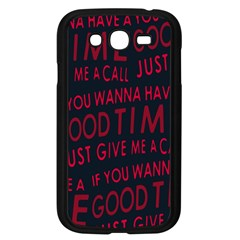 Motivational Phrase Motif Typographic Collage Pattern Samsung Galaxy Grand Duos I9082 Case (black)