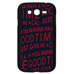 Motivational Phrase Motif Typographic Collage Pattern Samsung Galaxy Grand DUOS I9082 Case (Black) Front