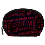 Motivational Phrase Motif Typographic Collage Pattern Accessory Pouch (Large) Front