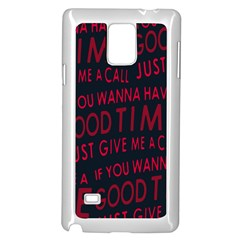 Motivational Phrase Motif Typographic Collage Pattern Samsung Galaxy Note 4 Case (white)