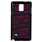 Motivational Phrase Motif Typographic Collage Pattern Samsung Galaxy Note 4 Case (Black) Front