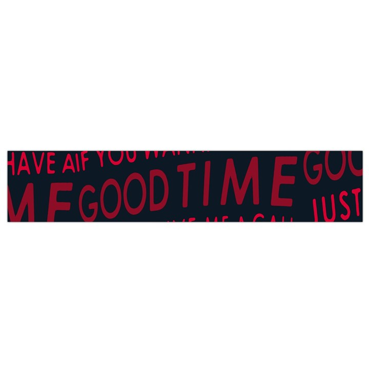Motivational Phrase Motif Typographic Collage Pattern Small Flano Scarf