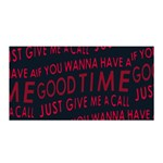 Motivational Phrase Motif Typographic Collage Pattern Satin Wrap Front