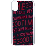 Motivational Phrase Motif Typographic Collage Pattern iPhone X Seamless Case (White) Front