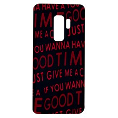 Motivational Phrase Motif Typographic Collage Pattern Samsung Galaxy S9 Plus Tpu Uv Case