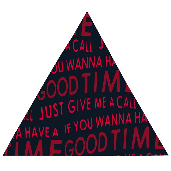 Motivational Phrase Motif Typographic Collage Pattern Wooden Puzzle Triangle