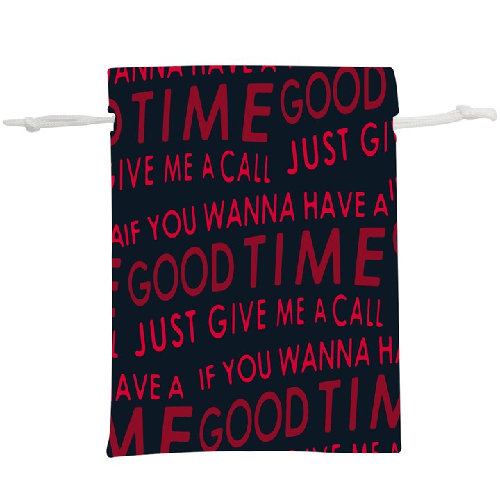 Motivational Phrase Motif Typographic Collage Pattern  Lightweight Drawstring Pouch (XL)