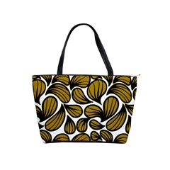 Gold Leaves Classic Shoulder Handbag