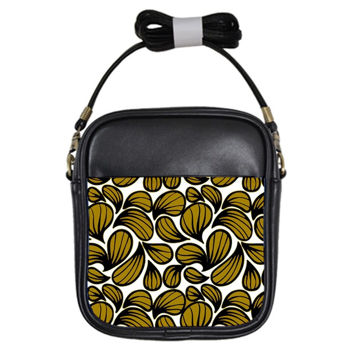 GOLD LEAVES Girls Sling Bag