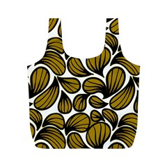 Gold Leaves Full Print Recycle Bag (m)