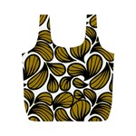 GOLD LEAVES Full Print Recycle Bag (M) Back