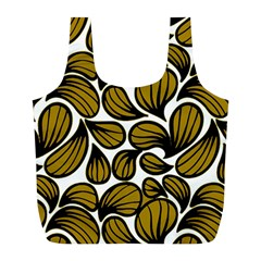 Gold Leaves Full Print Recycle Bag (l)