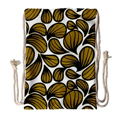 Gold Leaves Drawstring Bag (large)