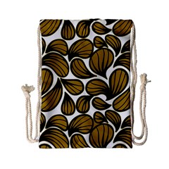 Gold Leaves Drawstring Bag (small)