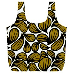 Gold Leaves Full Print Recycle Bag (xxl)