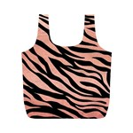 TIGER ROSE GOLD Full Print Recycle Bag (M) Front