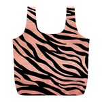 TIGER ROSE GOLD Full Print Recycle Bag (L) Front