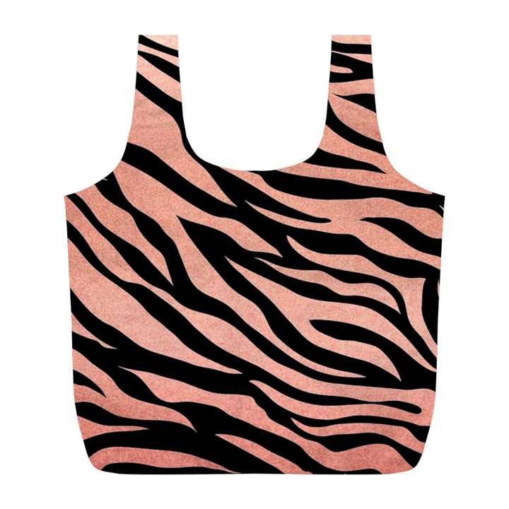 TIGER ROSE GOLD Full Print Recycle Bag (L)
