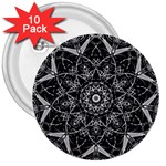 Black And White Pattern 3  Buttons (10 pack)  Front