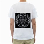 Black And White Pattern Men s T-Shirt (White) (Two Sided) Back