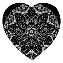 Black And White Pattern Jigsaw Puzzle (heart) by Sobalvarro
