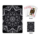 Black And White Pattern Playing Cards Single Design (Rectangle) Back